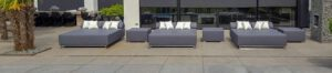 circular outdoor lounger